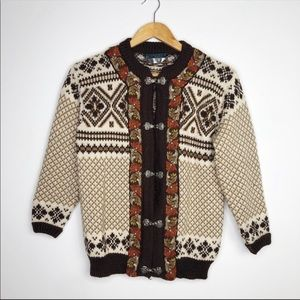 Dale Of Norway Vintage Wool Nordic Clasp Sweater